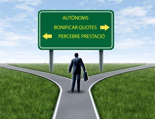 AJUDES A AUTÒNOMS: PRESTACIÓ O BONIFICACIÓ